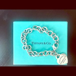 Authentic Tiffany & Co heart bracelet sterling
